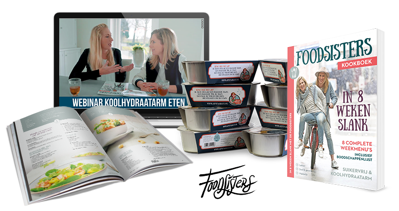 header foodsisters in weken slanklogo